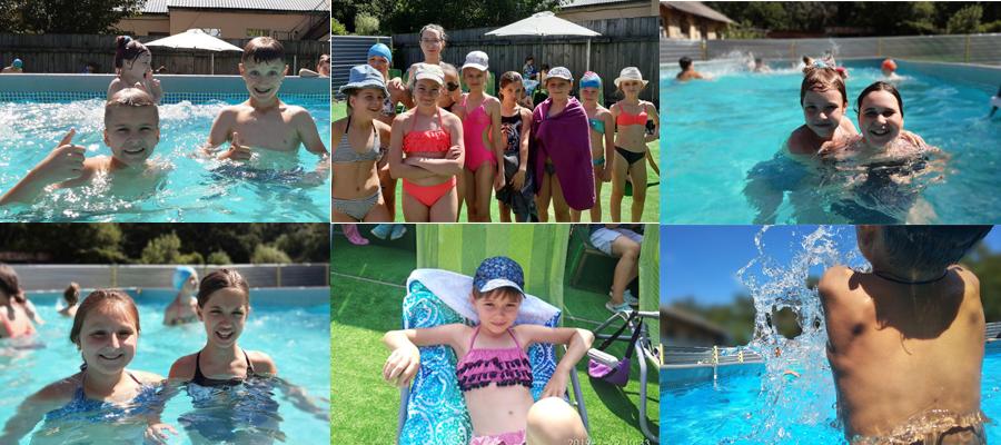 В детском лагере Фреш Кэмп есть открытый, небольшой, но уютный и благоустроенный бассейн.