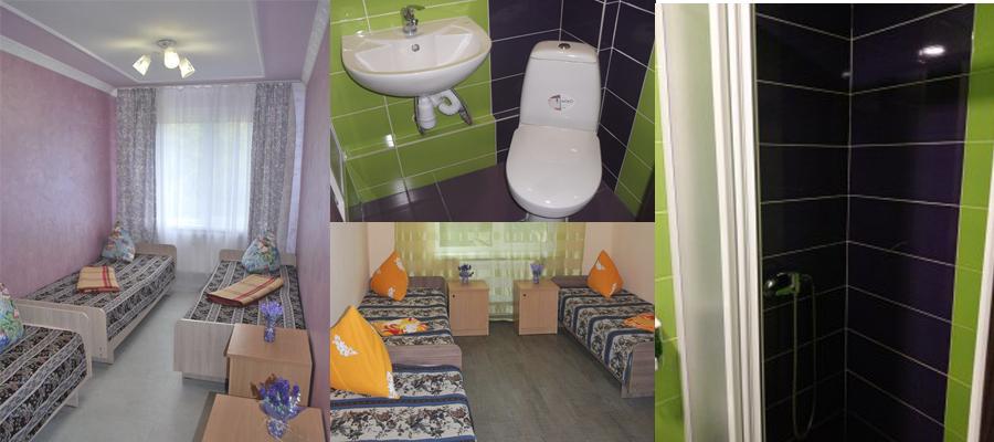 Люкс - комнаты с душевой и уборной в комнате.